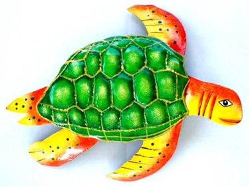 Sea Turtle Metal Sculpture