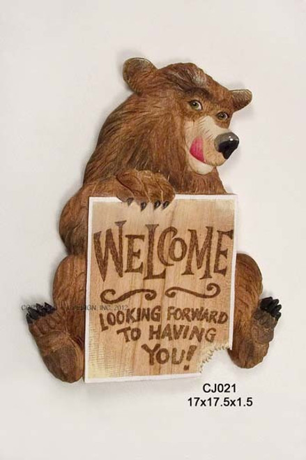 Bear Sign Looking Forward to Having You