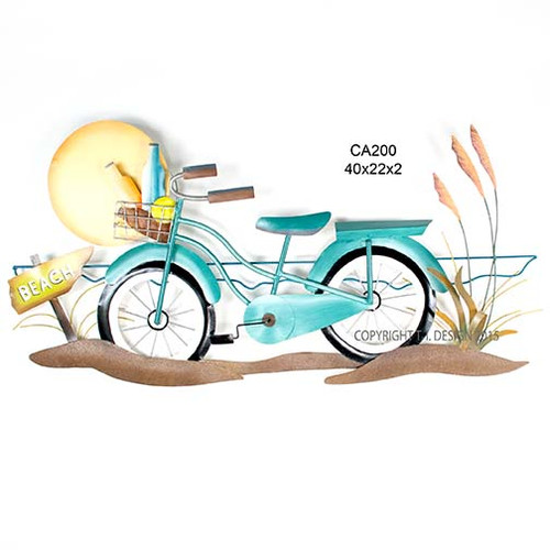 Beach Cruiser Metal Wall Art