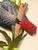 African Gray Parrot Wall Sculpture CW225