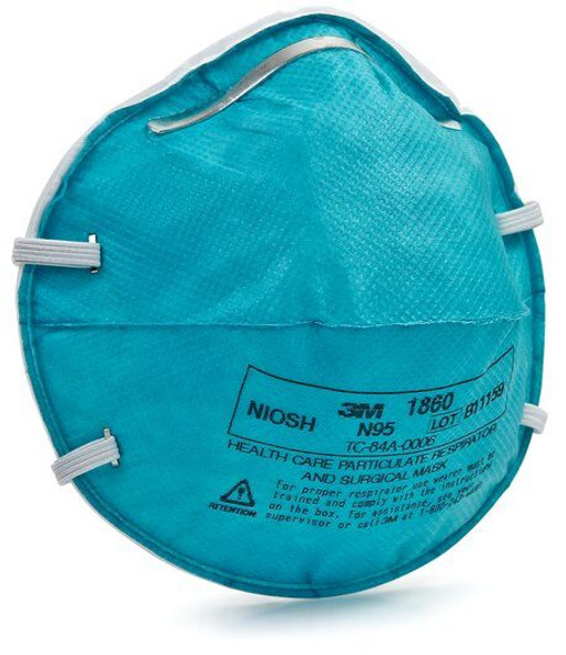 3M™ Health Care Particulate Respirator and Surgical Mask 1860, N95 120 EA/Case