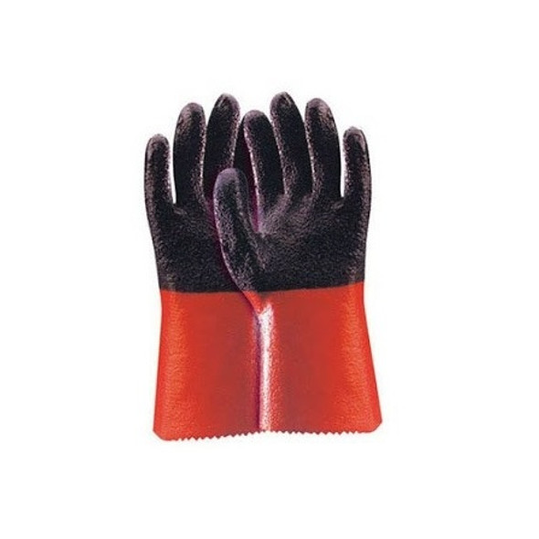 TAEHEOUNG PVC Gloves - Black + Red