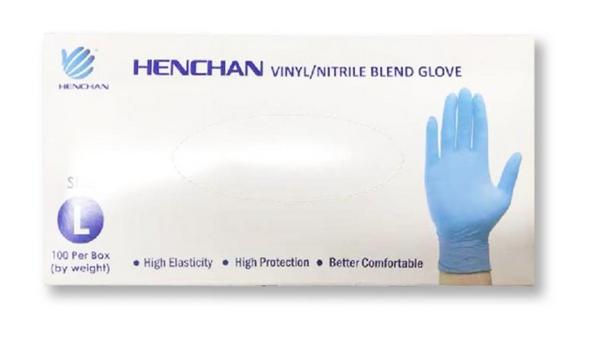 Henchan Vinyl/Nitrile Blend Gloves by Med Gear USA