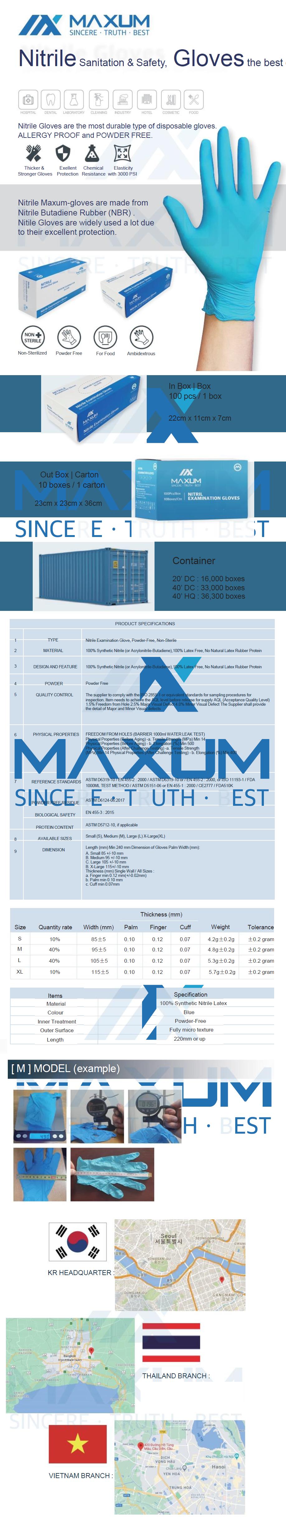 Maxum Gloves by Med Gear USA