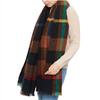 blanket scarf black multicolour