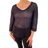 Isabel V-neck cotton pullover sweater