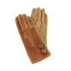 Camel Faux Fur gloves