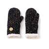 black multicolour mittens