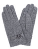 Grey Gloves with Round Embellishment