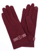Burgandy gloves with Round Embellishment