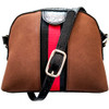 Rounded Handbag in Chestnut