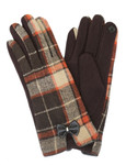 Brown Gloves Plaid with Bow