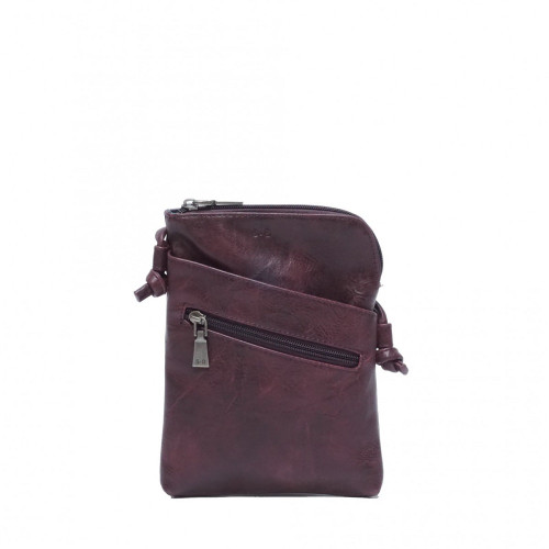 Crossbody with Front Pockets in Plum Hannah