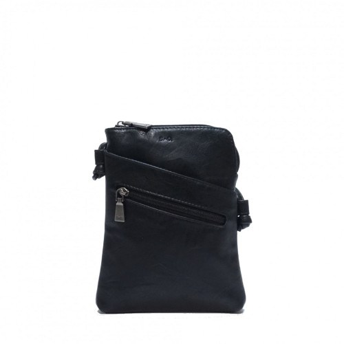 Crossbody with Front Pockets in Black hannah