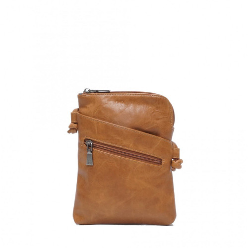 Crossbody with Front Pockets in Camel hannah