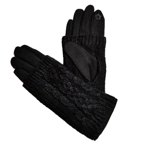 Ladies Gloves knit black