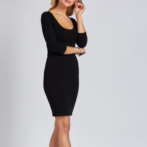 Bamboo Dress 3/4 Sleeve black
