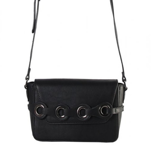Small cross body handbag with chained eyelet detail