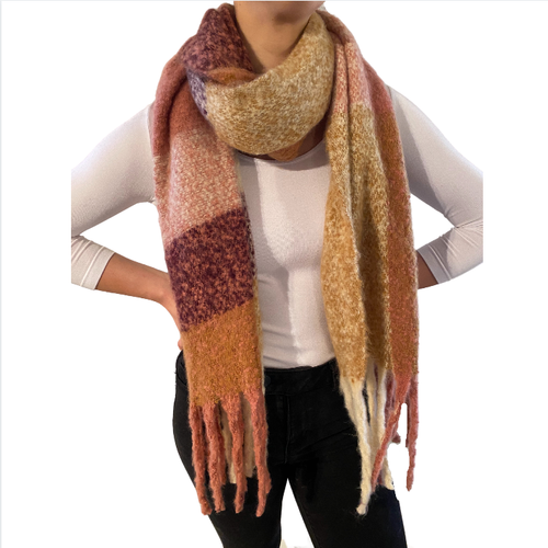 Blanket Scarf Pink/Orange