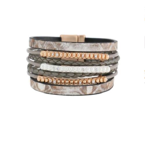 gold/silver tone cord bracelet