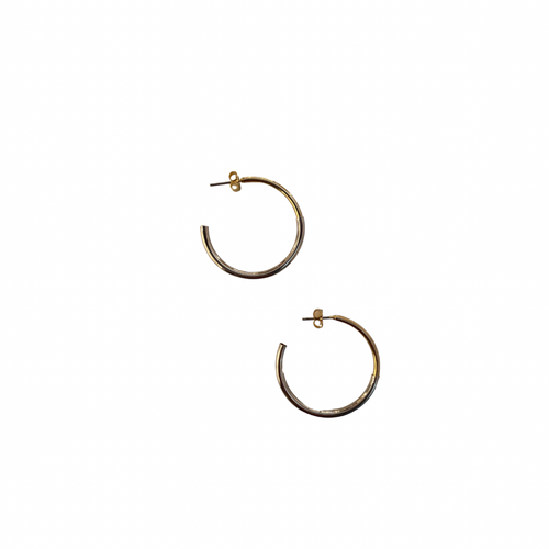 silver & gold hoop earrings