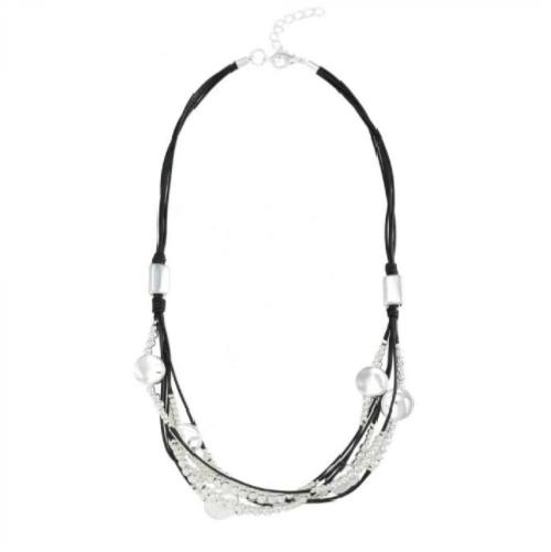 light burnished  black wax cord neckpiece