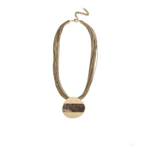 gold and taupe necklace