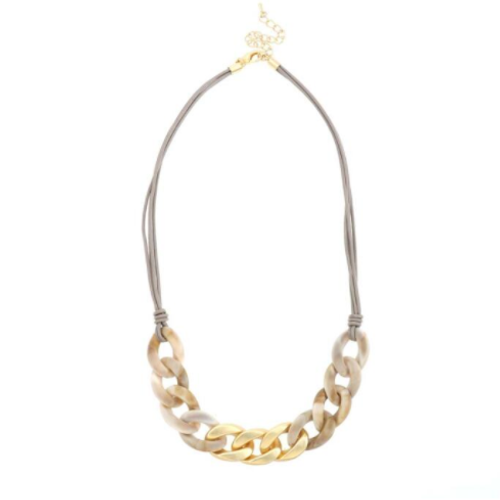 light gold and taupe necklace