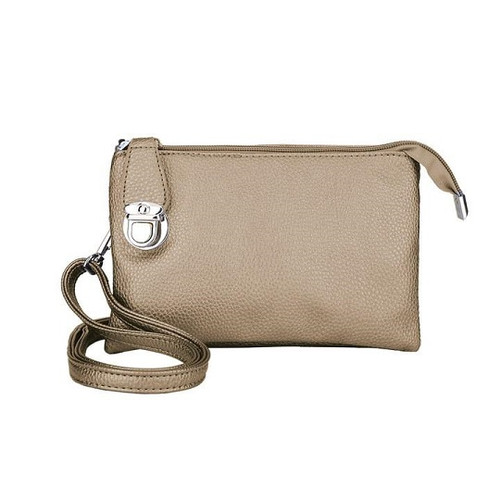 Crossbody bag with multiple pockets gold