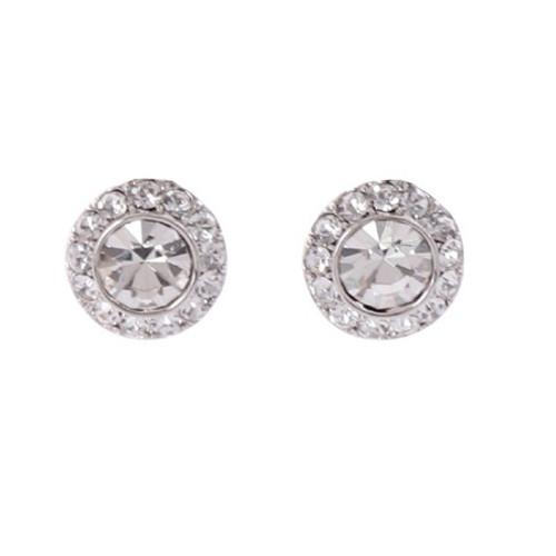 Stud plate earring