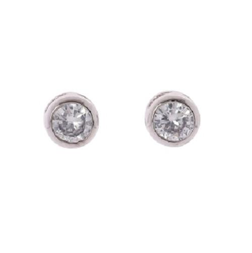 Stud earring 6mm bezel