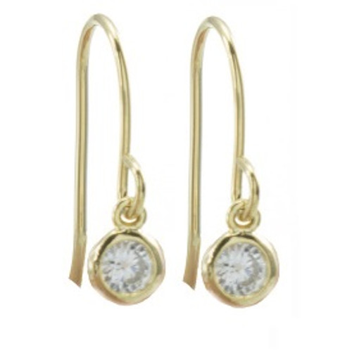 crystal gold earring
