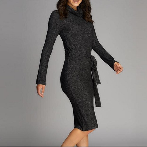 Soft Cowl Neck Dress