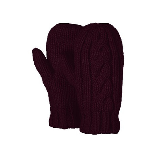 plum lined mitts