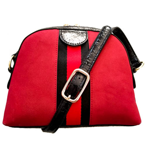 Rounded Handbag in Red