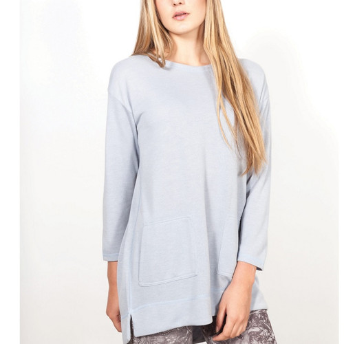Ice Blue Pull Over Sweater with Pockets