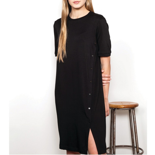 Black Dress with Buttons Down the Side