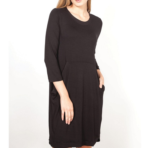 Black Dress with Front Pocket astra