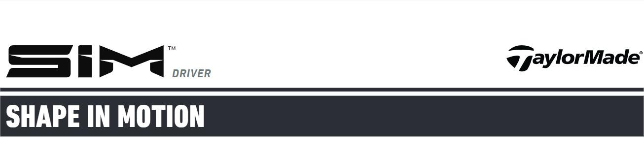 TaylorMade SIM Driver header image banner