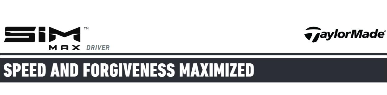 TaylorMade SIM MAX Driver header image banner