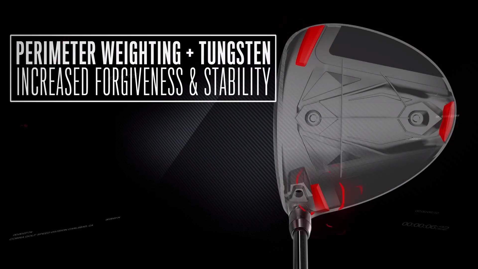 Cobra Speedzone - Stability Zone - Perimeter weighting and Tungsten