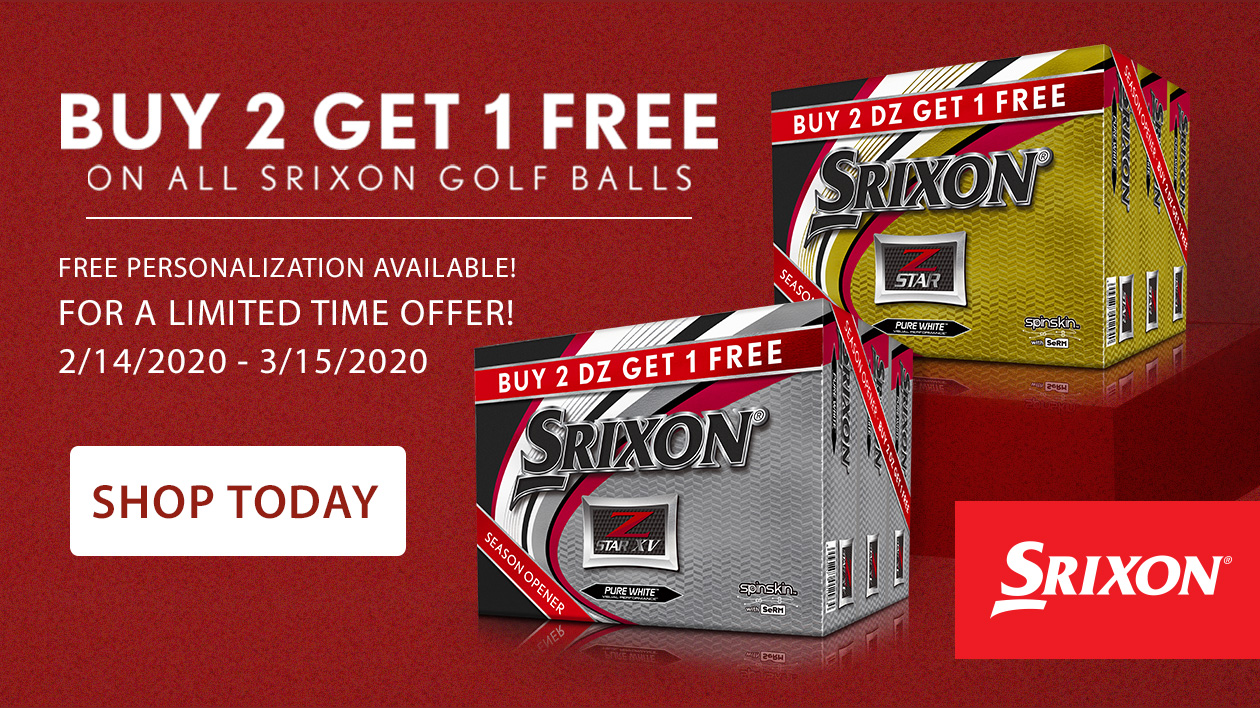 Srixon Buy 2, Get 1 Golf Balls!