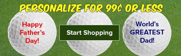 Golf Ball Personalization Starting At $.99!