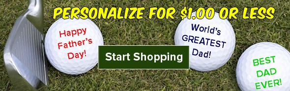 Golf Ball Personalization Starting At $1.00!