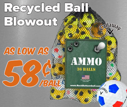 Recycled Golf Ball BLOWOUT - As Low As 58¢/Ball! - Shop NOW!