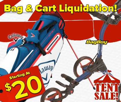Golf Bags and Carts Liquidation Tent Sale - This Weekend ONLY - Shop Now!