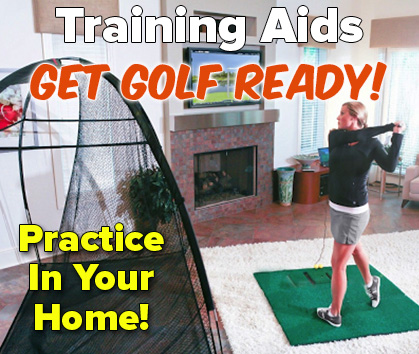 Stuck inside, Get Golf Ready with these great training aids!  - Shop Now!