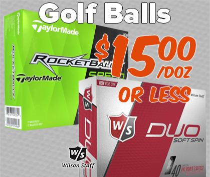 Golf Balls at $15/dozen OR LESS! - Shop Now!