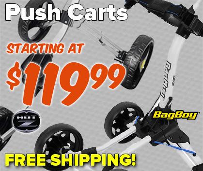 Golf PUSH CARTS STARTING AT $119.99 - Shop Now!