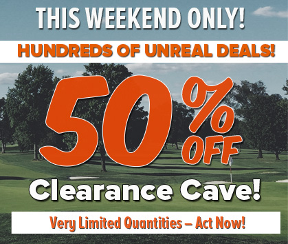 50% Off Golf Clearance Sale at Rock Bottom Golf!